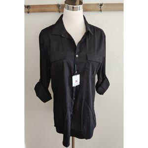 Calvin Klein extreme slim fit shirt in black